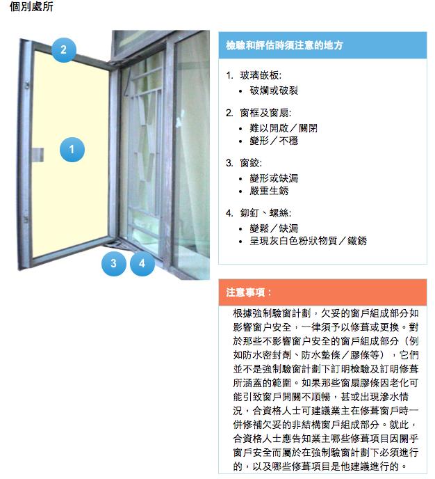 強制驗窗計劃涵蓋範圍